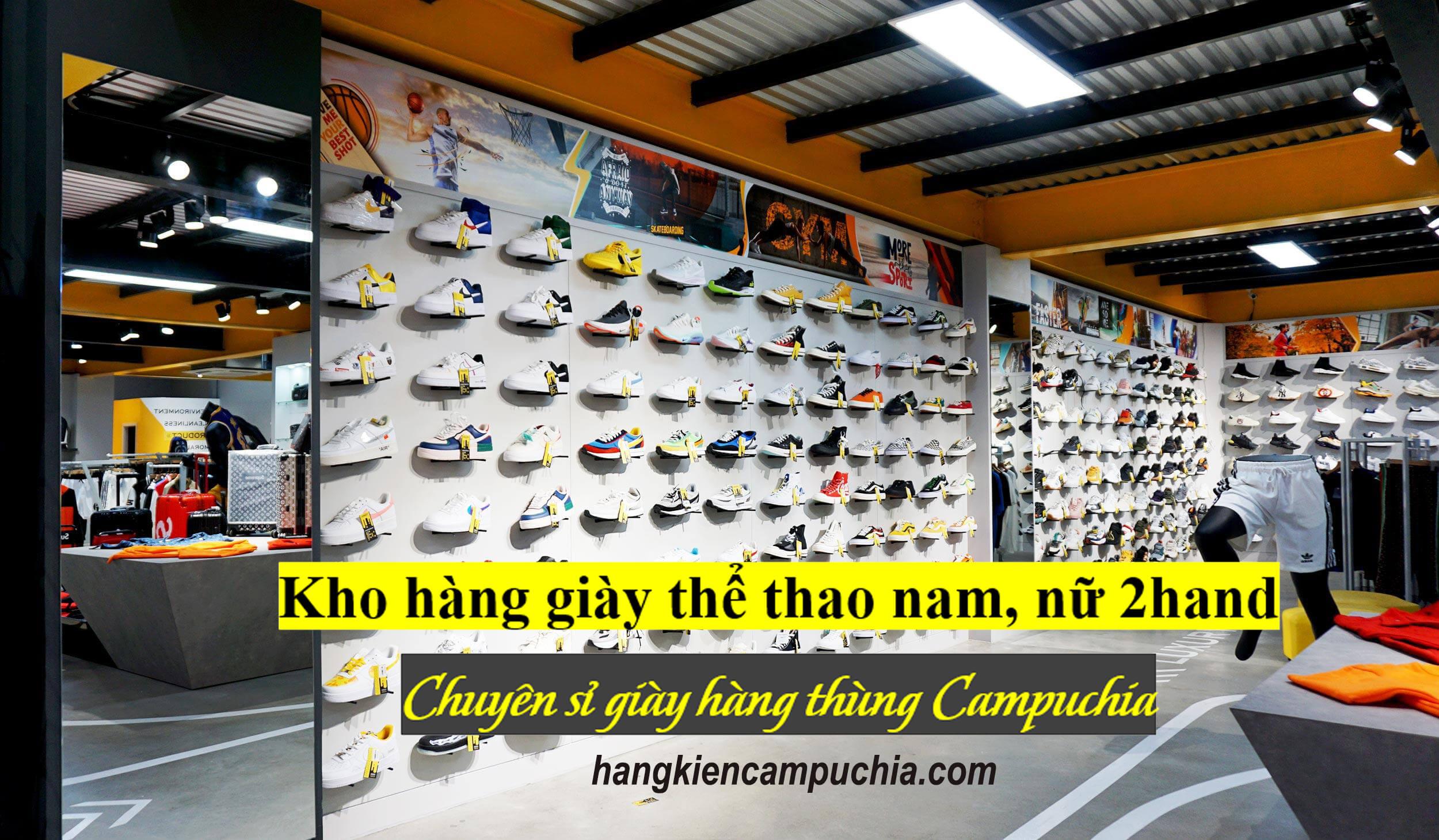 Kiện hàng giày thể thao Nam, Nữ Secondhand | Hàng thùng Campuchia