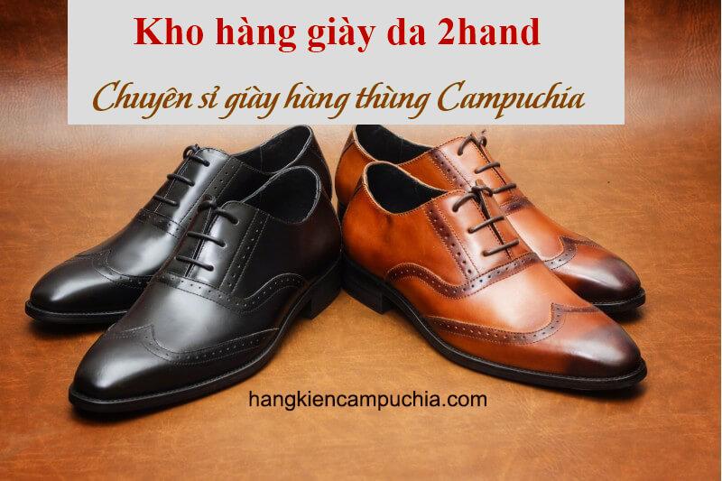 Kiện hàng Giày Da nam hàng thùng Sỉ giày da 2hand từ Campuchia