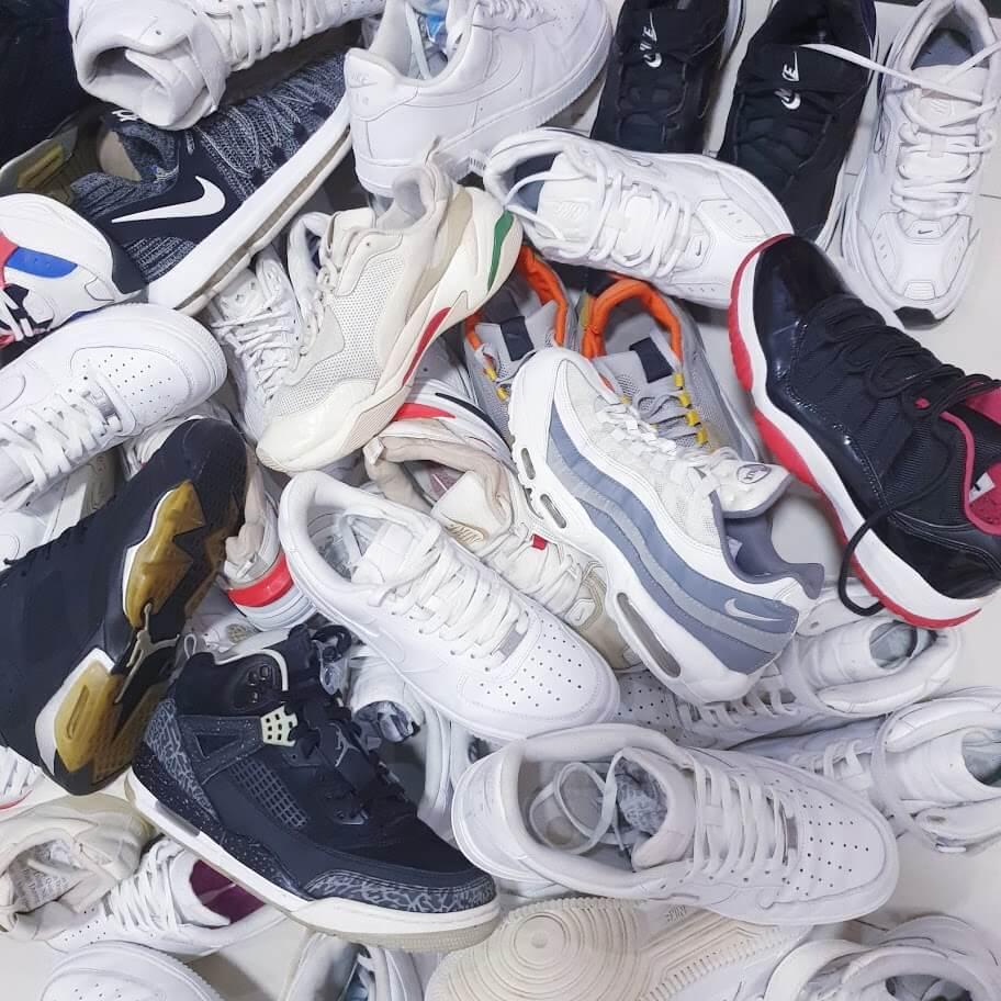 Thực tế giày secondhand là tổng hợp của rất nhiều loại giày từ giày real, giày fake, giày noname