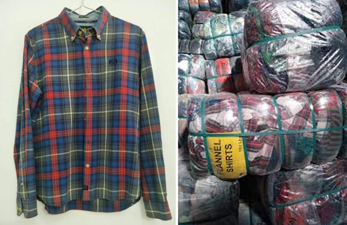 Áo flannel hàng thùng thường được lấy từ Hàn, Nhật, Mỹ và được đóng thành từng thùng lớn nặng từ 45-100kg