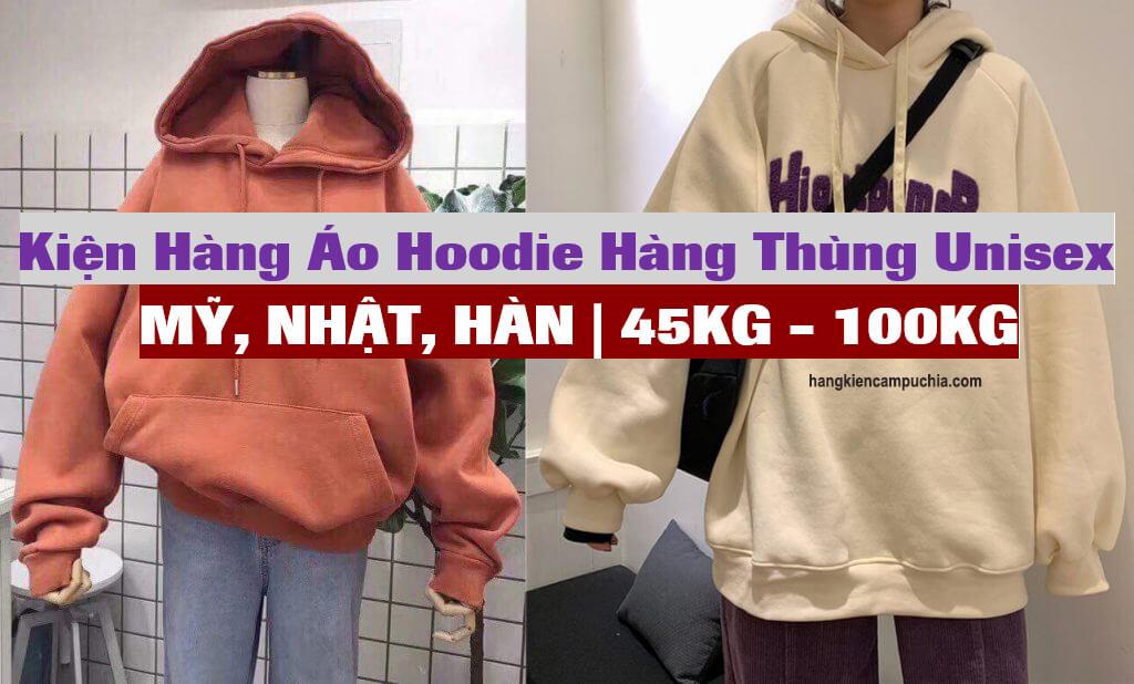 Kiện hàng Áo Hoodie hàng thùng Unisex Mỹ, Nhật, Hàn | 45kg – 100kg