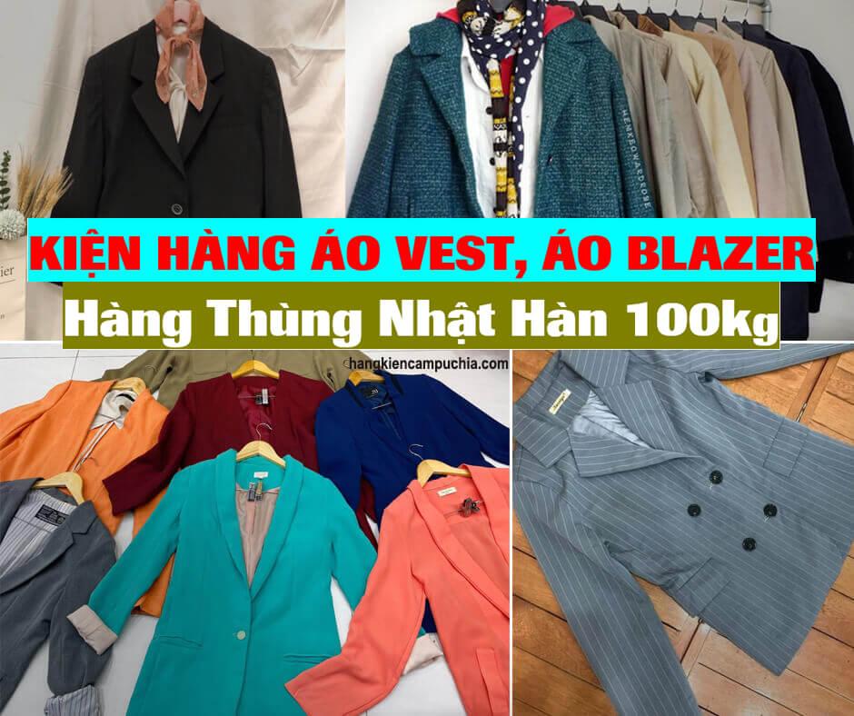 Kiện hàng Áo Vest, Áo Blazer Hàng thùng Nhật Hàn 100kg