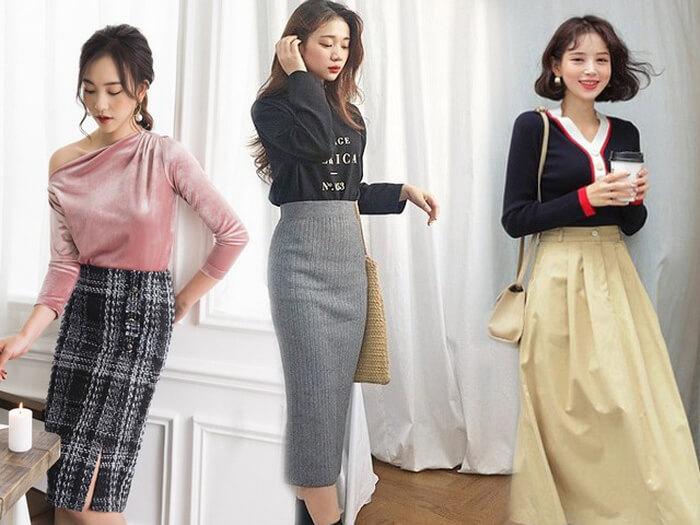 Chân váy cũng là một trong những món đồ thời trang bán chạy hàng đầu vì món đồ này rất dễ phối với nhiều loại áo