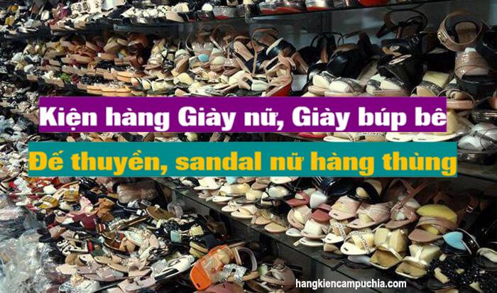 Kiện hàng Giày nữ, Giày búp bê, đế thuyền, sandal nữ hàng thùng