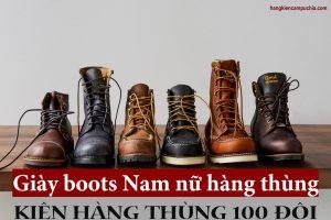Giày boots nam nữ hiện nay thường có 2 nguồn chính là nguồn giày boots Châu Á và nguồn giày boots Âu - Mỹ